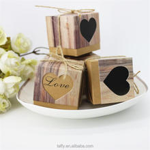 bridal shower wedding party favor vintage rustic heart love candy gift boxes wedding box