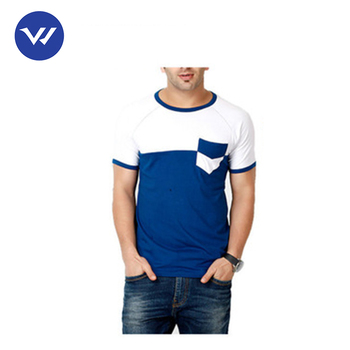 8f33b6cfe10e Plain Style Two Tone Blue white Men Designer T Shirts - Buy ...