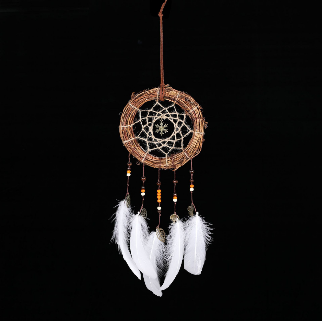 IED-0018Wholesale Indian Rattan Dream Catcher handgemachtes Geschenk Dekoration Dreamcatcher