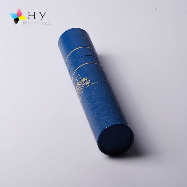 Customized Diploma Certificate packing cardboard Fancy craft Paper Round Tube packaginging box