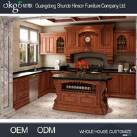 High gloss in stock kitchen cabinets