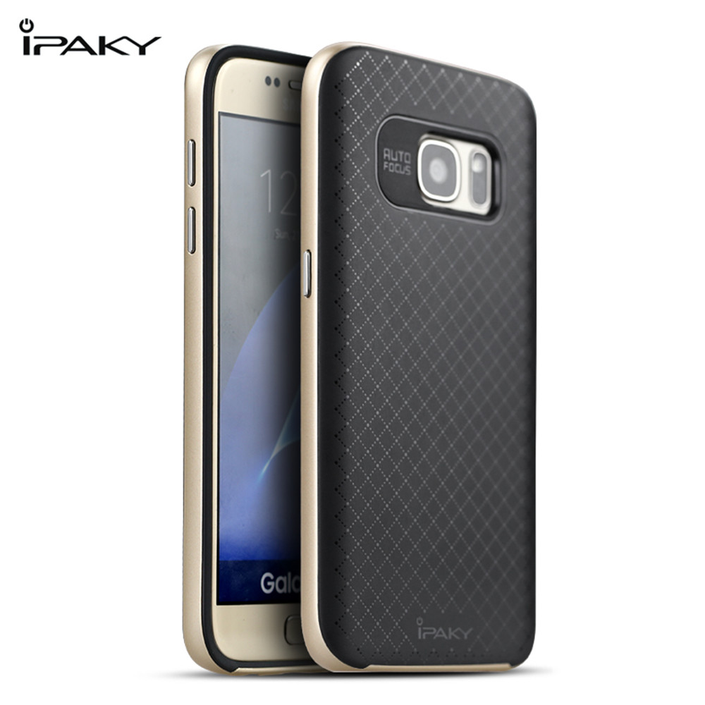 iPaky Original Brand Back Cover PC and Silicone Protective Mobilephone Case For Samsung Galaxy S7/G930F