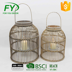 Indoor room and party hanging bamboo candle lantern ML-2149
