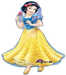 "LoonBalloon SNOW WHITE Disney Princess 45"" Full Body Birthday Party Mylar Foil Balloon NEW"