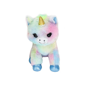 small and cute colorful plush unicorn doll toy and custom life size plush unicorn doll