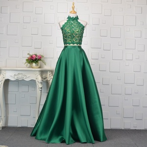 LSYY015 real prom dress designer evening patterns sexy evening dress lace emerald green prom dresses