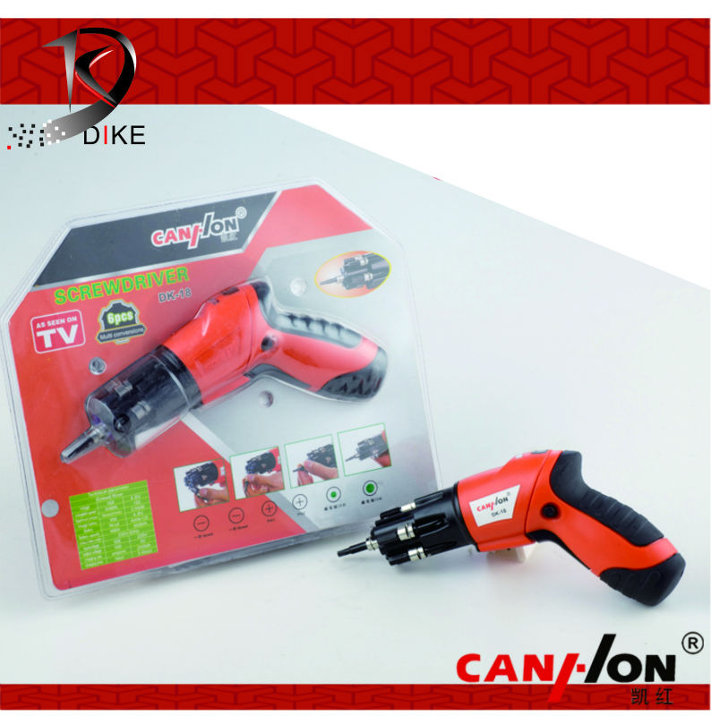 ningbo dike multi function cordless electric screwdriver with led DK-18