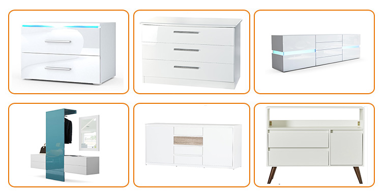 Mobile Storage Cabinet for Closet/Office White Wooden Multi 7 Drawers