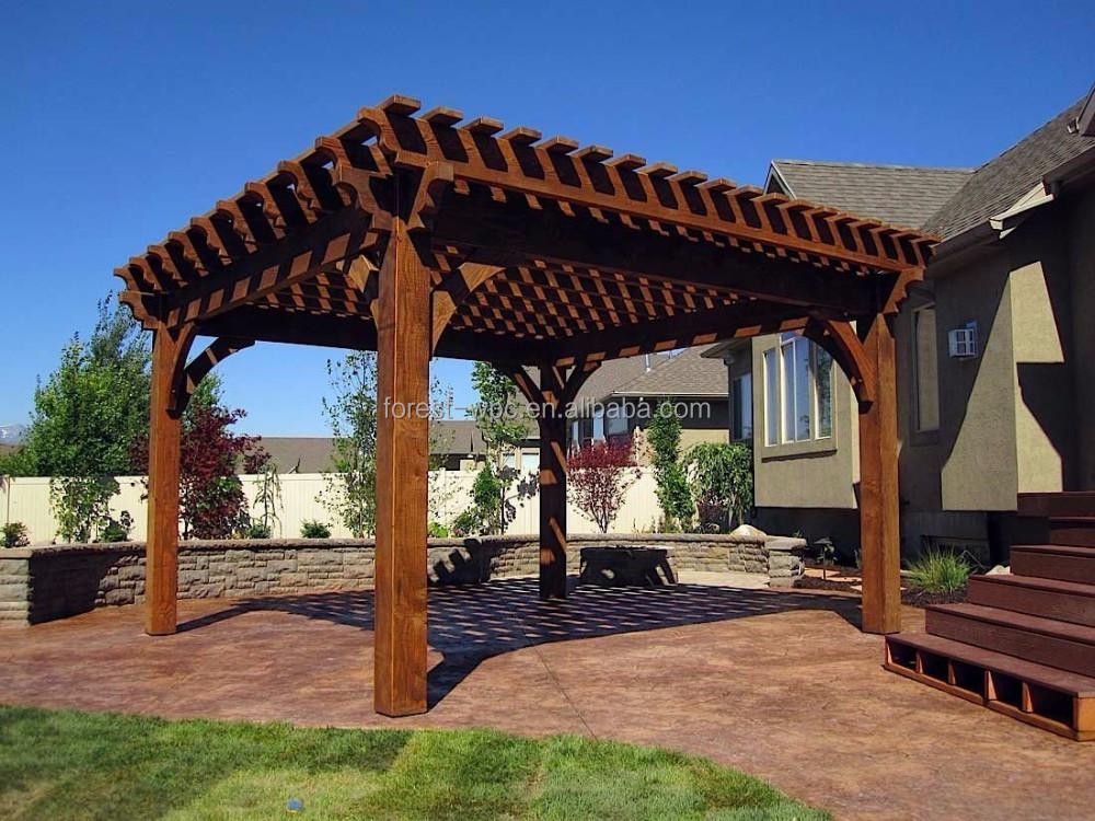 Wpc viga techo de madera vigas peque o jard n gazebo arcos for Vigas de madera para jardin