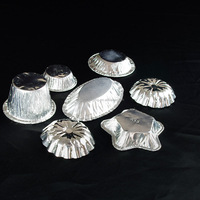 china supplier mini aluminum foil food compartment containers disposable