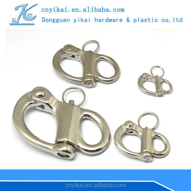 Wholesale marine supplies swivel stainless steel fixed sailing snap shackle