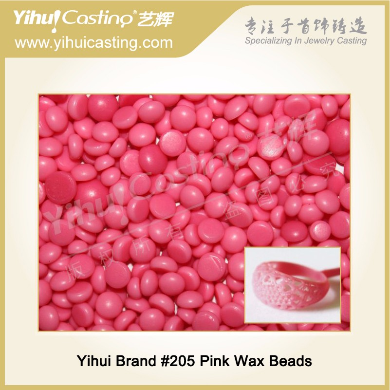 Yihui High Quality of Wax Beads 205 pink color for jewelry casting