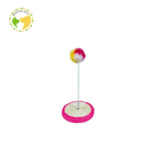Factory Direct Hot Sale Colourful Cat Ball Spring Toy