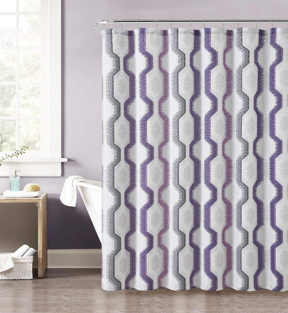 72x72 Inch Interdesign Butterfly Fabric Shower Curtain Taupe