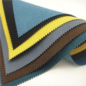 Colorful pu synthetic dye suede leather fabric