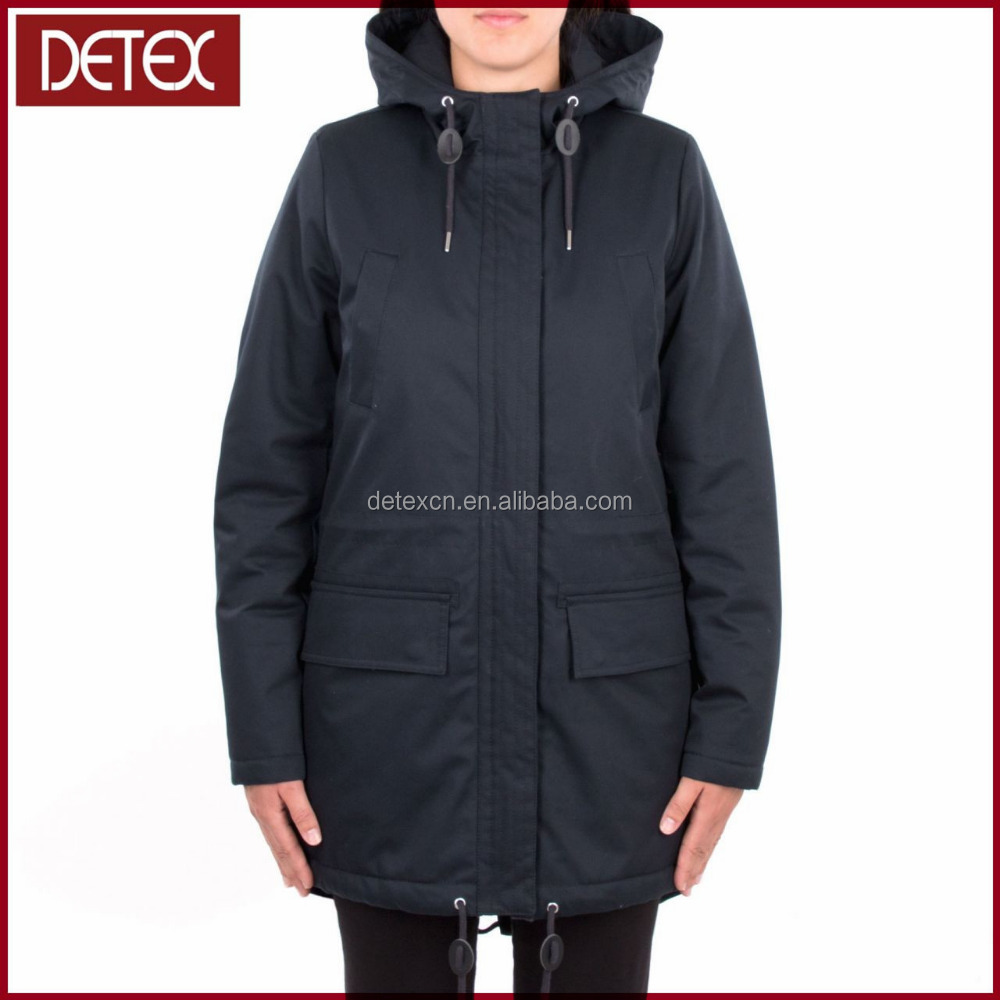 Custom Woman Padded Winter Fishtail Parka With Fur Jacket