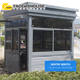 Sales Promotion Qatar Prefabricated Security Guard House Cabin security booth for sale
