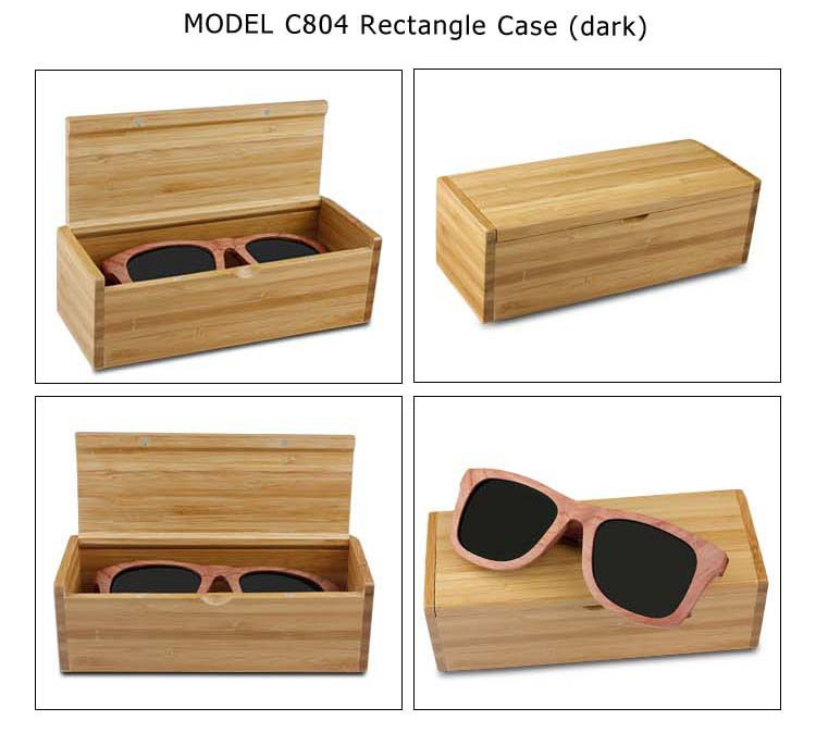 Wholesale Wooden Sunglasses Box Bamboo Cases