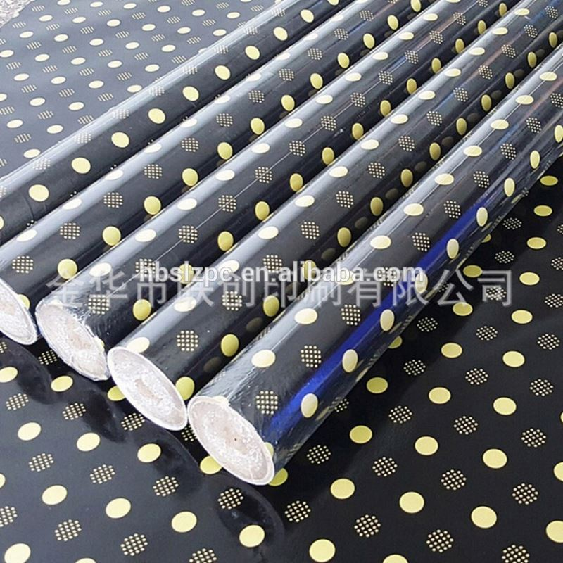 foam printing glitter powder printing christmas gift wrapping paper