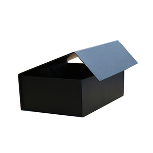 Hot sales promotion black large cardboard gift paper box packaging