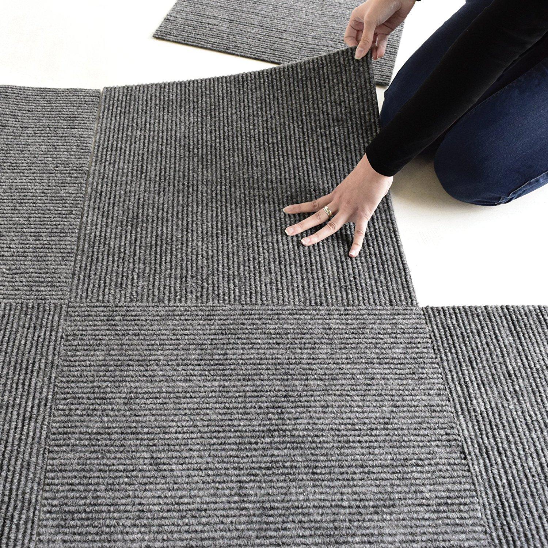 Get Quotations L And Stick Carpet Tile Charcoal Grey 18 X18 10 Tiles Case