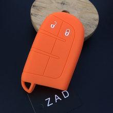 ZAD силиконовый чехол для автомобильного ключа, резиновый чехол для ключей, держатель для Jeep Renegade, для Dodge JCUV, 2 кнопки, пульт дистанционного уп...(China)