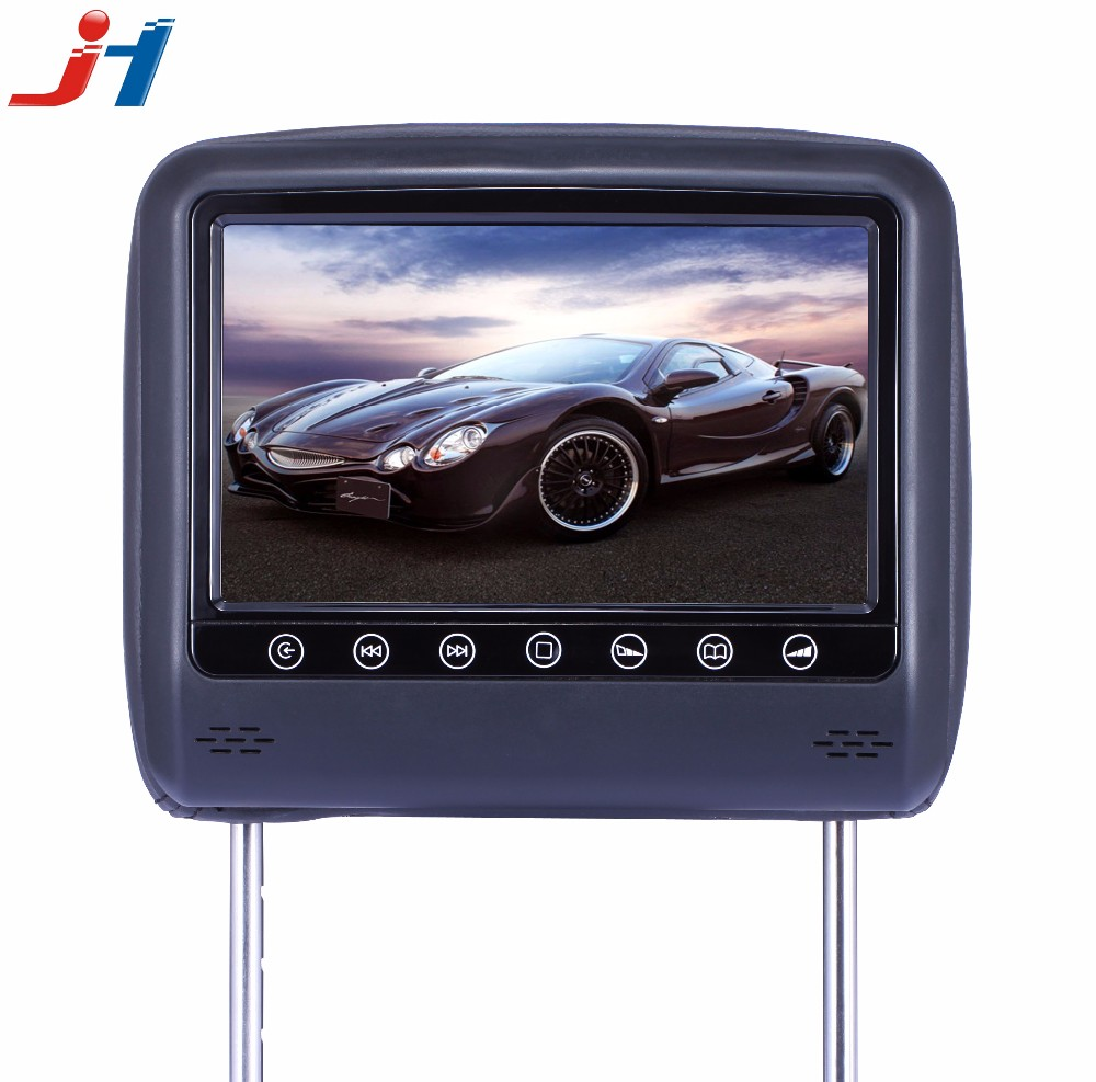 "7""/8"" Digital Panel interface touch screen Active Detachable Car Headrest monitor with sd/usb/mp5"