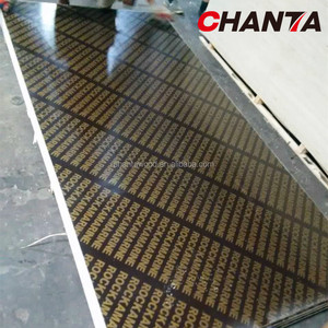 linyi Chanta brown black 4x8 cheap price Film faced plywood/Building Construction material/Marine Plywood