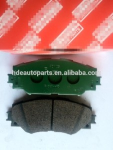 Factory price brake pad 04465-02220 used fortoyota corolla front with good