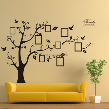 94ab Tree Branches Wall Decals Photo Frame Wall Stickers Memory ...