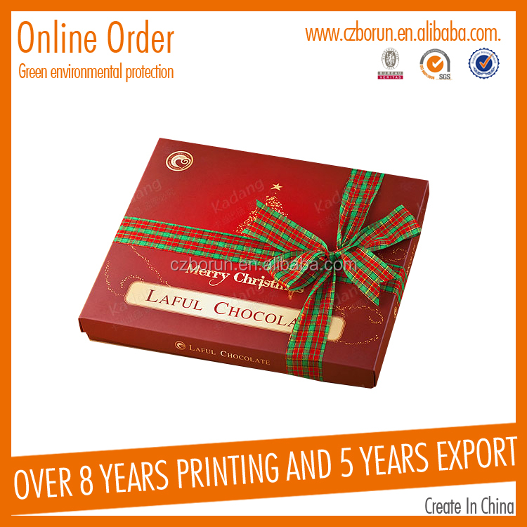 custom exquisite Chrismas paper gift box