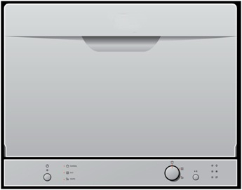 6 sets A+ white color tabletop dishwasher