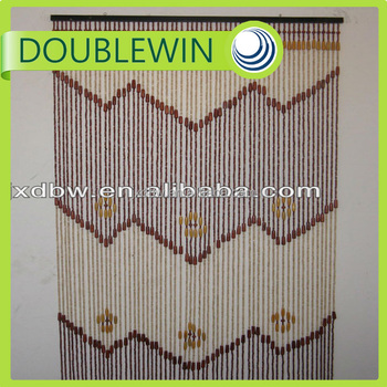 Factory Direct Wholesale Wood Beaded Door Curtain,Wood Curtain ...