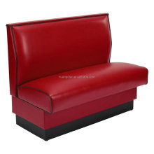 Restaurant booth red leather banquette seating for sale