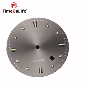 Shenzhen Factory Make Custom Luminous Index Sunray Automatic Watch Dial Parts