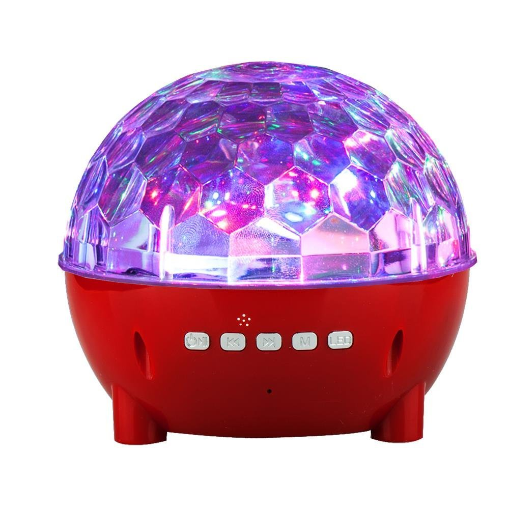 Mini Colorful Stage Lights Wireless Speaker for LG V30/ V30+/ G6/ G6+/ G5/ G4/ G3/ G2/ V20/ V10/ Stylo 3/ K20V/ X Charge/ Q6/ Aristo/ Q8/ Stylo 3 Plus (Red)