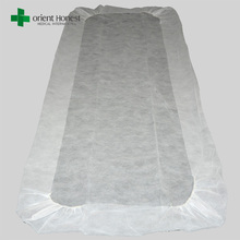 Hubei Xiantao factory white non woven disposable Bed Sheets and Pillow covers for hospital surgical supply