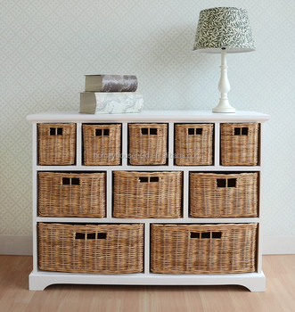 Beau Tetbury Wide Storage Chest With Wicker Baskets   Buy Storage Chest Product  On Alibaba.com