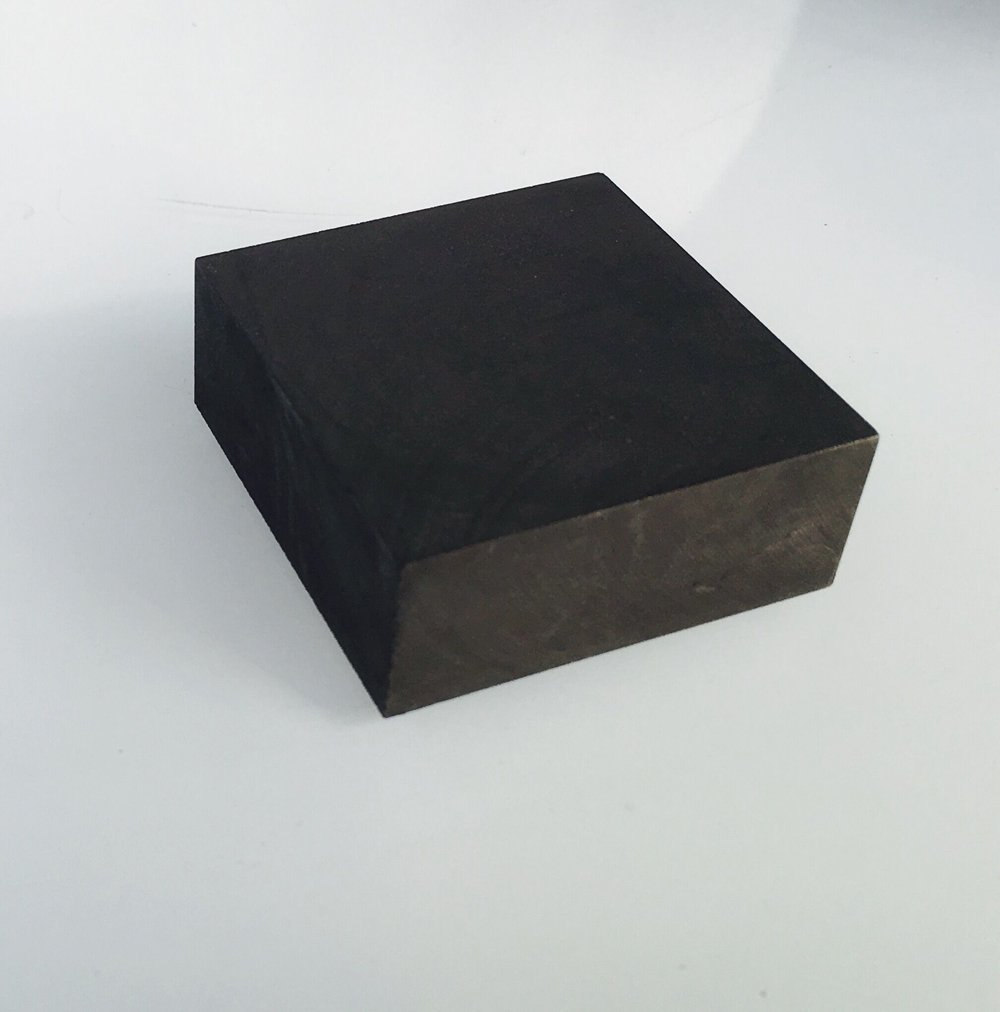 OTOOLWORLD 99.9% Purity Graphite Ingot Block EDM Graphite Plate Milling Surface (50MMx50MMx20MM)