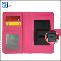 New products universal cell phone pu leather case with clip mobile phone case card slots wallet cover