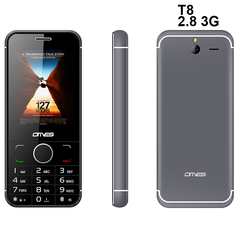 41e68819564 New latest china mobile phone T8 3g wcdma 2.8inch slim keypad mobile phone