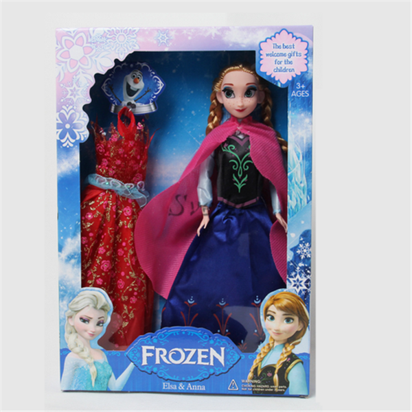 Hot Frozen doll toys Elsa Anna with extra dress Frozen baby toy PVC doll wholesale price