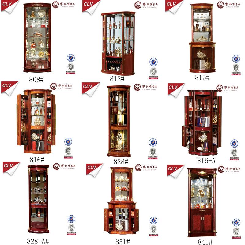 Armoire de rangement de bois whisky vitrine pour salon for Armoire de rangement salon