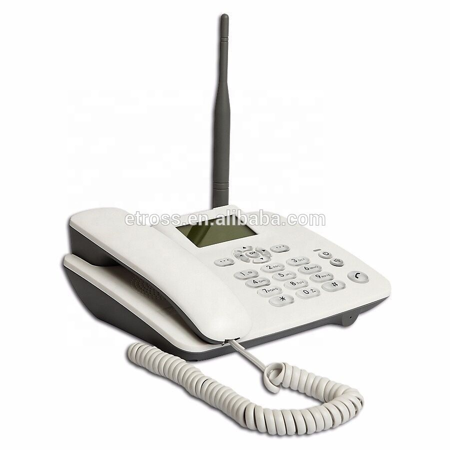 Low cost quad band desktop gsm wireless home phone with sim card slot