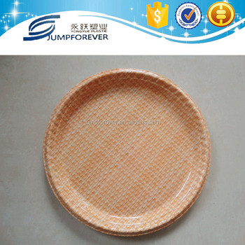 Hot sale 14inch bamboo weaving plastic charger plate round plastic candy plate & Hot Sale 14inch Bamboo Weaving Plastic Charger PlateRound Plastic ...