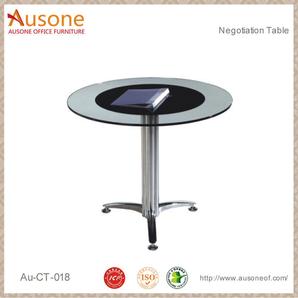 Small MFC Desktop conference desk chrome coffee table legs