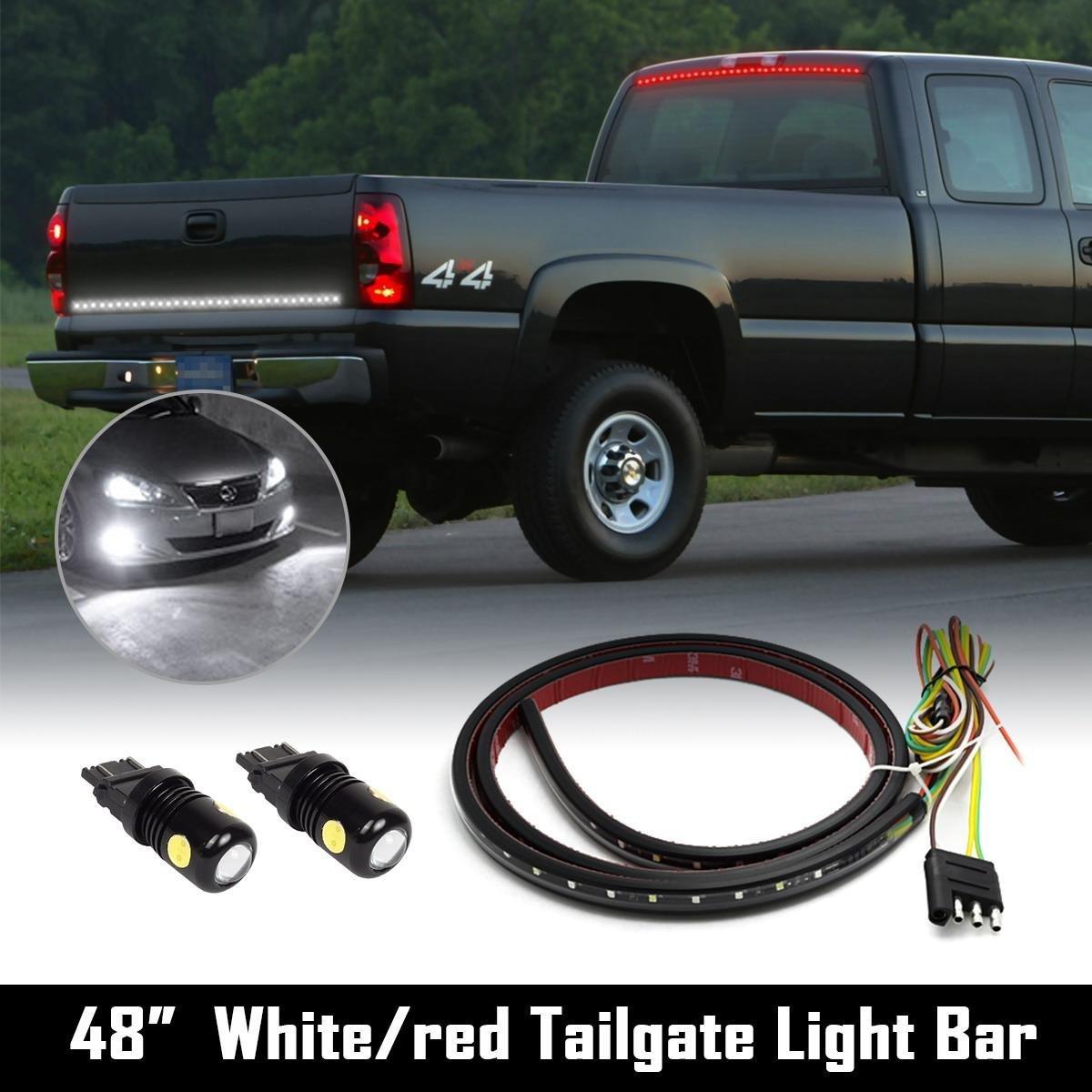 "Partsam Truck Tailgate Light Strip Bar Turn/Tail 48""+ 3157 Epistar-COB White LED Reverse"