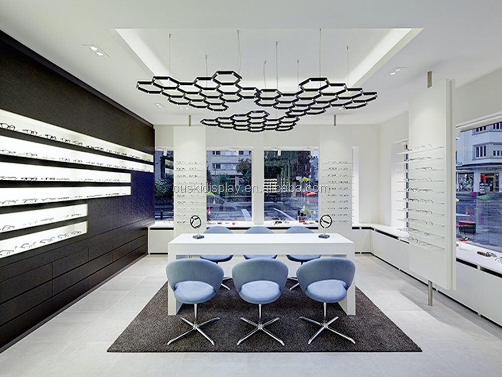 Fashionable and modern interior design for eyewear store
