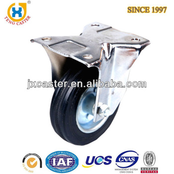 "4 "" furniture casters,top-plate rigid apparatus Rubber Wheel Caster"