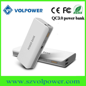 New products 2017 P40 dual usb ports 5v 9v QC3.0 Portable battery charger 10000mah power bank promotion